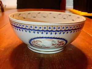 Gorgeous Chinese Porcelain Panel Decorated Bowl With Bird Floral Motifs