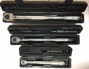 Torque Wrench Set 3 Pc 1 2 3 8 And 1 4 209