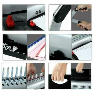 21 Hole 450 Sheets Paper Comb Punch Binder Binding Machine Filing Storage Tool