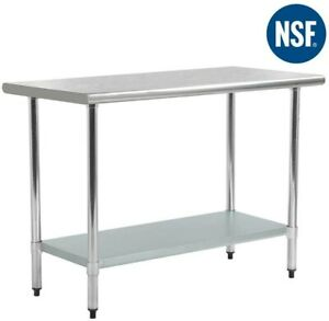Fdw Kitchen Work Table Stainless Steel Metal Commercial Nsf Scratch Resistent An