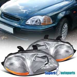 For 1996 1998 Honda Civic Head Lights Lamps Assembly