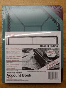 Boorum And Pease Canvas Account Book Journal 9 5 8 By 7 5 8 300 Pages Blue