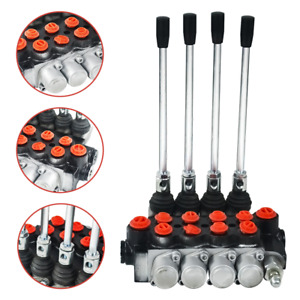 4 Spool Hydraulic Directional Control Valve 11gpm Log Splitters Monoblock In Usa