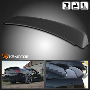 For 2005 2009 Ford Mustang Gt500 Ducktail Style Rear Trunk Spoiler Wing Black