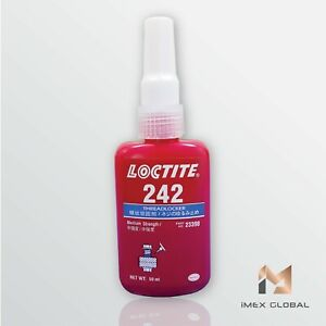 10 X Loctite 242 Threadlocker Blue Medium Strength 50ml Free Shipping Tracking