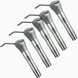 5pc Dental Air Water Spray Triple Syringe Way Handpiece With 10 Nozzles Tubes F4
