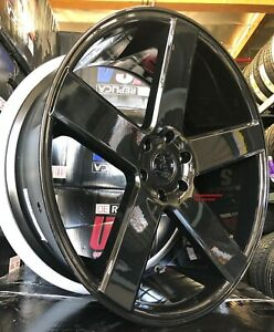 24 Inch Dub Baller S216 Gloss Black Tires Dodge Charger Challenger Staggered
