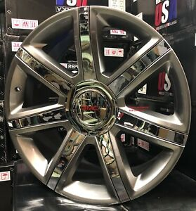 22 Inch Rims Fit Escalade Silver Chrome Tires Yukon Silverado Tahoe Wheels New