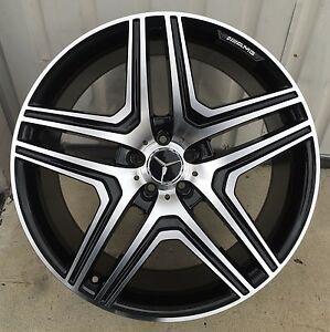 20 Wheels Fit Mercedes Ml350 Ml500 Gl450 Gl550 R350 With Tires 4 Rims Black