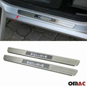 For Hyundai Tiburon Veloster Led Chrome Door Sill Brushed S Steel Exclusive