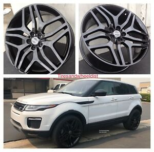 22 Rims Fit Range Rover Black Autobiography Wheels Evoque Velar With Tires New