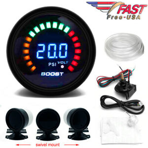 Digital Boost Gauge 52mm 0 30 Psi Pressure Turbo Meter 2 With Free Mount