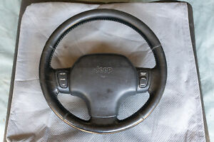 1997 Oem Jeep Grand Cherokee Limited Leather Steering Wheel Plus Controls