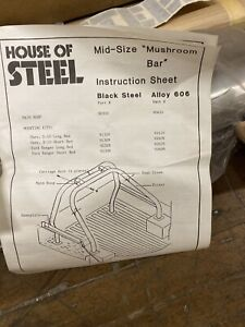 House Of Steel 1988 1993 Chevy S10 S 10 Long Bed Roll Bar Cage 8 Truck Bed Nos