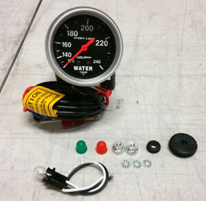 sale Auto Meter Sport comp 120 240 F Mechanical Water Temperature Gauge 2 5 8