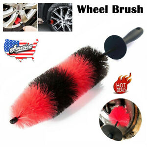 17inch Portable Car Auto Brush Wheel And Rim Detailing Brushes Long Soft Bristle