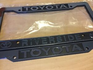 Toyota Riverside California License Plate Frame New Mint Dealership Tacoma Pair2