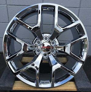 22 Gmc Yukon Wheels Tires Chrome Chevy Oe Style Silverado Sierra Denali Rims