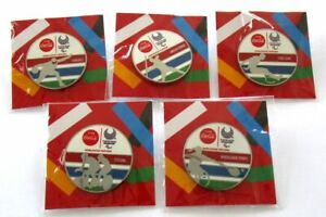 Tokyo Paralympics Coca Cola Pin Badge Complete Set 2020 Olympic WheelchairTennis