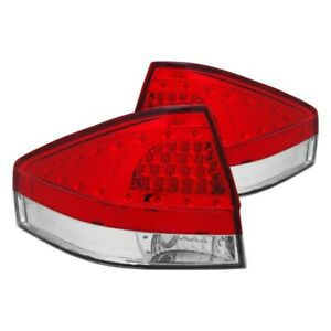 For Ford Focus 2008 2011 Cg Chrome red Led Tail Lights