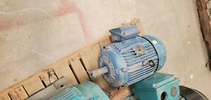 Weg 10 Hp Motor Blue Used For Testing 1760 Rpm