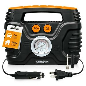 Air Compressor Car Tire Inflator Portable Analog Electric Air Pump 12v 110v