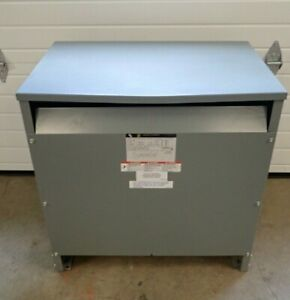 Square D 75t3h 75 Kva 3 Phase Dry Transformer 480 To 208y 120 Ttr Tested