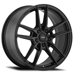 4 Konig 55b Myth 19x8 5 5x120 40mm Gloss Black Wheels Rims 19 Inch