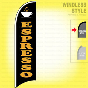 Espresso Windless Swooper Flag 2 5x11 5 Ft Feather Banner Sign Kb