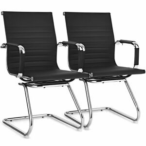 Set Of 2 Office Guest Chairs Waiting Room Chairs For Reception Conference Area