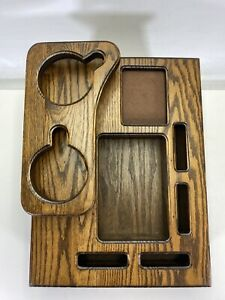 Wooden Van Center Console Cup Holder Insert 15 X 11 3 8 X 7 1 2 Dark Grain Oak