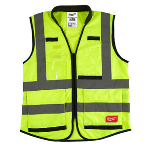 Milwaukee 48 73 5042 High Visibility Yellow Performance Safety Vest L xl