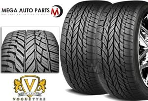 2 New Vogue Signature V Black Ultra High Performance 255 35r18 94w Xl Tires