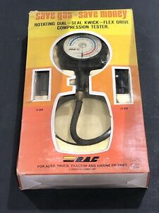 Vintage Rac Model 1539 Tune Up Compression Tester With Rotating Dial manual New