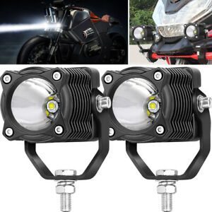 2x 2 20w Led Driving Lights Spotlights Bumper Offroad Trucks Work Lamps 12v Suv