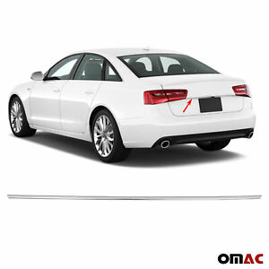 Chrome Trunk Tailgate Grab Handle Trim Cover S Steel For Audi A6 2012 2018