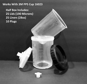 28 Oz Disposable Paint Cups 190 Micron Compare To 3m Pps 16024 Half Box Of 25