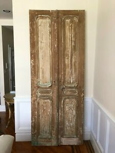 Architectural Salvage Antique Carved Double Doors From France 38 X 96 Inches