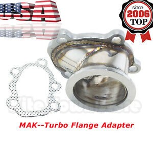 For T25 T28 Gt25 Gt28 To 2 5 Turbo Down Pipe Adapter 63mm V band Clamp Flange