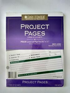 Day timer Project Pages 90871 Size 8 5 X 11 Total Of 6 Pads 24 Sheets Each 144