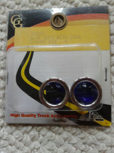 Blue Dots Tail Lights With Long Chrome Rims In Pkg 50109