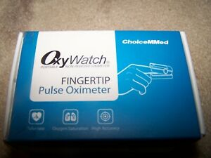Choicemmed Fingertip Pulse Oximeter Oxywatch White W Blue Cover Md300c21c