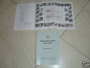 Mercedes 121 190 Sl 190sl Owners Manual 190sl Nos Super Rare Book W121