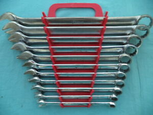Snap On Standard 12 Point Combination Wrench Set oex711 3 8 1 11 Pc W rack