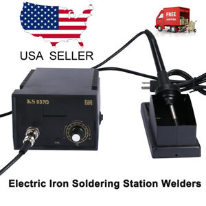 937d Electric Iron Soldering Station Smd Welder Welding W stand Sponge Esd 110v