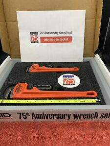 Ridgid 75th Anniversary 14 10 Heavy Duty Pipe Wrench Set Please Read l