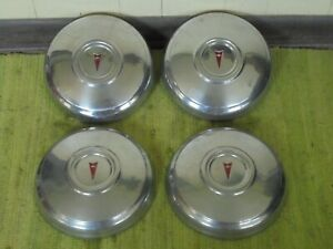1972 Pontiac Dog Dish Hubcaps 10 1 2 Set Of 4 Gto 72