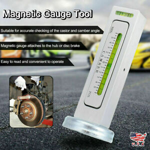 1 4x Magnetic Gauge Tool For Car Truck Camber Castor Strut Wheel Alignment Brake