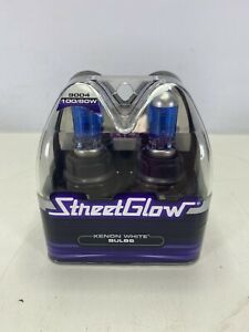 Street Glow 9004 Xenon White Replacement Bulbs 100 80w Pair New In Package
