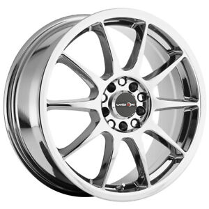 4 vision 425 Bane 17x7 5x4 5 5x120 38mm Chrome Wheels Rims 17 Inch
